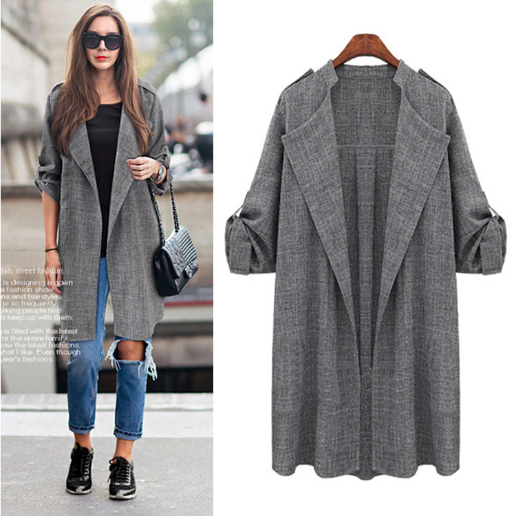 New Fashion Autumn Spring Women Jackets Open Front Coat Long Cloak Jackets Overcoat Waterfall Cardigan Female Blusas
