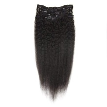 Moresoo человеческие волосы для наращивания на заколках, настоящие волосы remy для наращивания человеческих волос на зажимах, натуральный черный цвет, 7 штук, 100 грамм