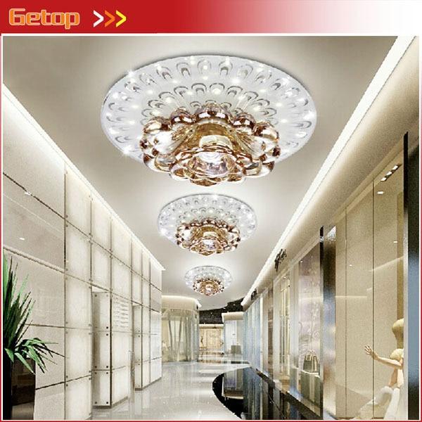 Best Price 1pcs Modern LED Crystal Aisle Lights Entrance Corridor Lights Crystal Ceiling Lights Bedroom Balcony Foyer Lighting