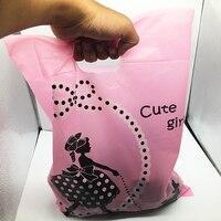 Pakowanie torby kolorowe 100*40 cm PE pcs30 różowy dziewczyna Śliczna Mini prezenty ślubne woreczki do przeszłości plastikowych toreb na zakupy cukierki box