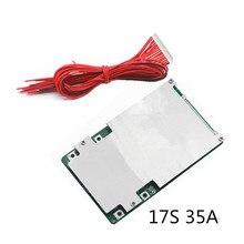 17 s 35a bms 보드 전원 리튬 배터리 보호 보드 18650 폴리머 3.7 v 전기 자동차 리튬 배터리 보호 보드