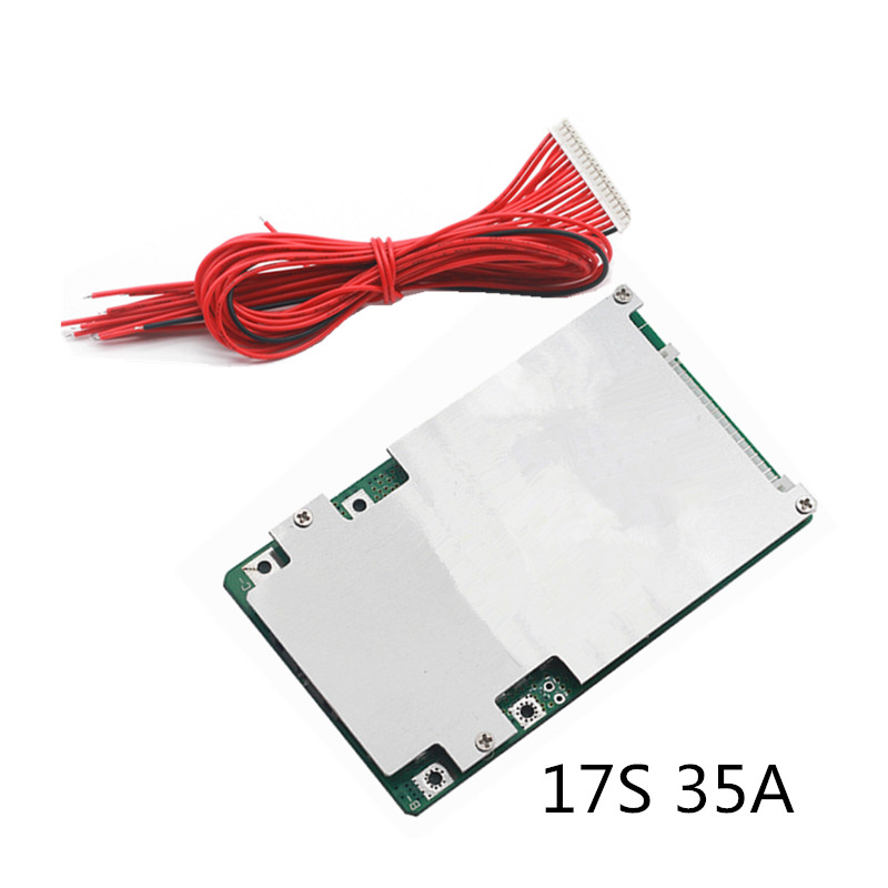 17S 35A BMS Board Power Lithium Battery Protection Board 18650 Polymer 3.7V Electric Vehicle Lithium Battery  Protection Board