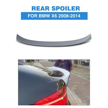 Rear Spoiler Boot Lip Wing For BMW E71 X6 2008-2014 FRP Unpainted Grey Primer Car Sticker image