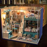 El yapımı Mobilyalarla Ile Ahşap Bebek Evi Oyuncaklar Montaj DIY Minyatür Model Kit Çocuk Yetişkin Kız Kadınlar Için Güzellik Hediye