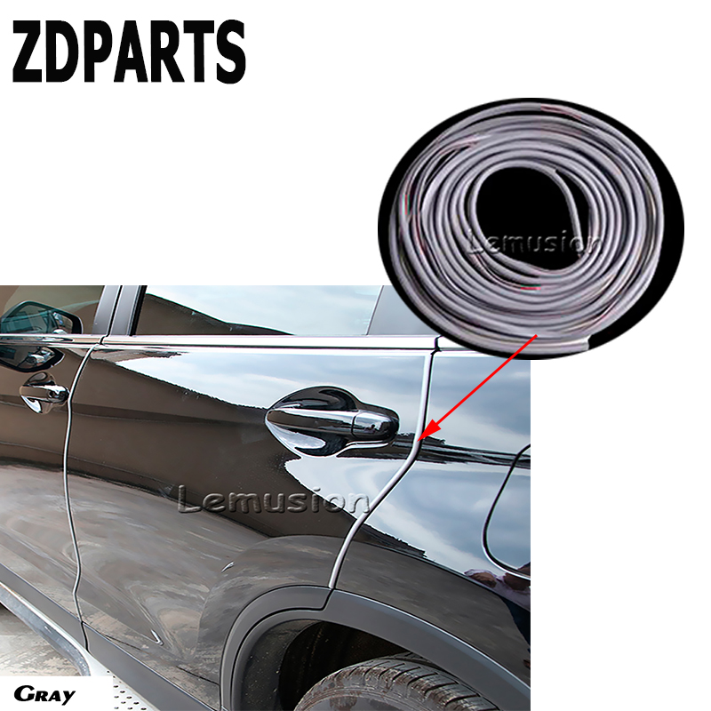 ZDPARTS 5M Car Anti-collision Scratch Bumper Protective Strip for Volkswagen VW Golf 4 5 7 6 MK4 Honda Civic 2006-2011 Accord