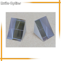 2pcs 20 20mm K9 Optical Glass Right Angle Prism Coating Transflective Film
