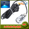 12V LED Underwater Boat Lights 9W Waterproof IP68 6 LED Yacht Boat Drain Plug Led Light Bulb With Connector