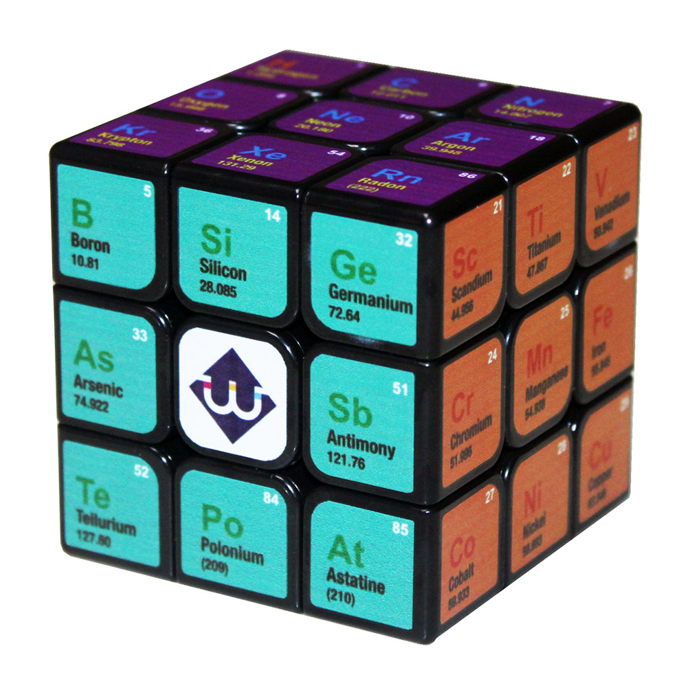 Custom Cube UV Printing Chemical Element 3x3x3 Magic 5.7cm 3*3*3 Stickerless Cubo Magico Educational Toys for Children Boys