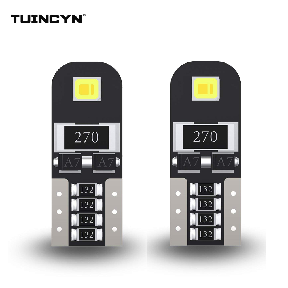 TUINCYN 2pcs T10 W5W 194 3030 SMD LED Bulbs Small Size High Power T10 Lamps for Signal Clearance Sidemarker Lights Universal Led in Signal Lamp from Automobiles Motorcycles