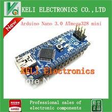 Free Shipping 5PCS/LOT For arduino Nano 3.0 Atmel ATmega328 Mini-USB Board+ 1pcs USB Cable