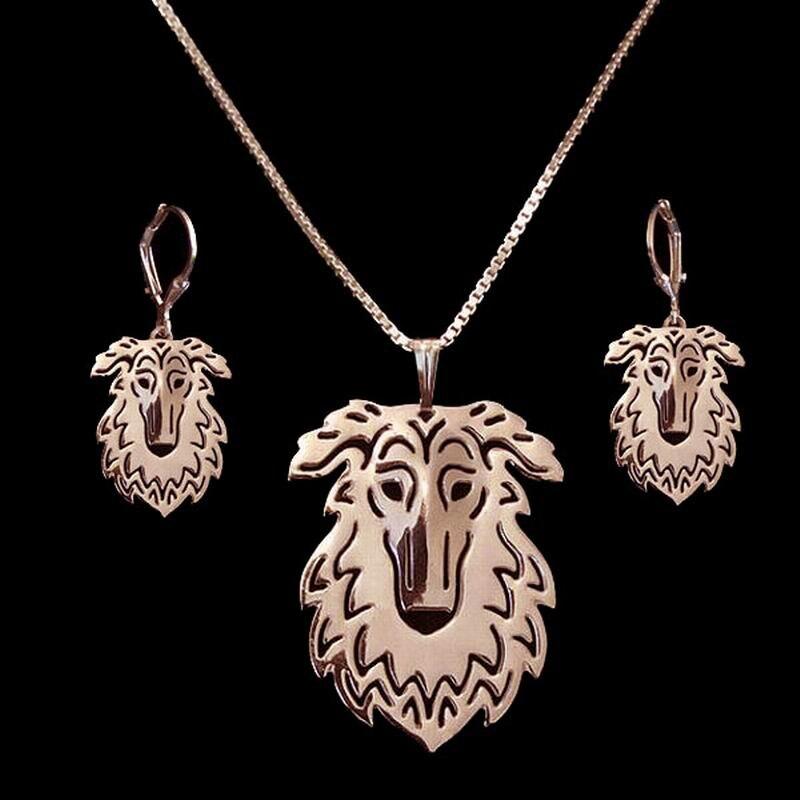 2018 любителей вырез собака форме ювелирных изделий комплект Лидер продаж из металла борзой собак комплект ювелирных изделий Прямая доставк...