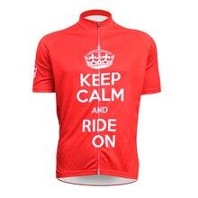 Сохранять спокойствие и зависеть от чужой спортивная одежда мужские езда на велосипеде джерси езда на велосипеде одежда велосипед рубашка размер 2XS к 5XL