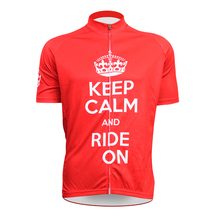 New KEEP CALM AND Ride ON Alien SportsWear Mens Cycling Jersey Cycling Clothing Bike Shirt Size 2XS TO 5XL