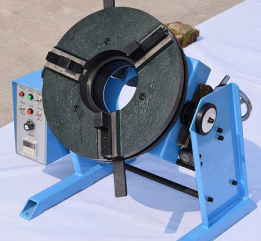 100KG welding positioner HD 100 welding turntable hole 140mm with WP400 chuck