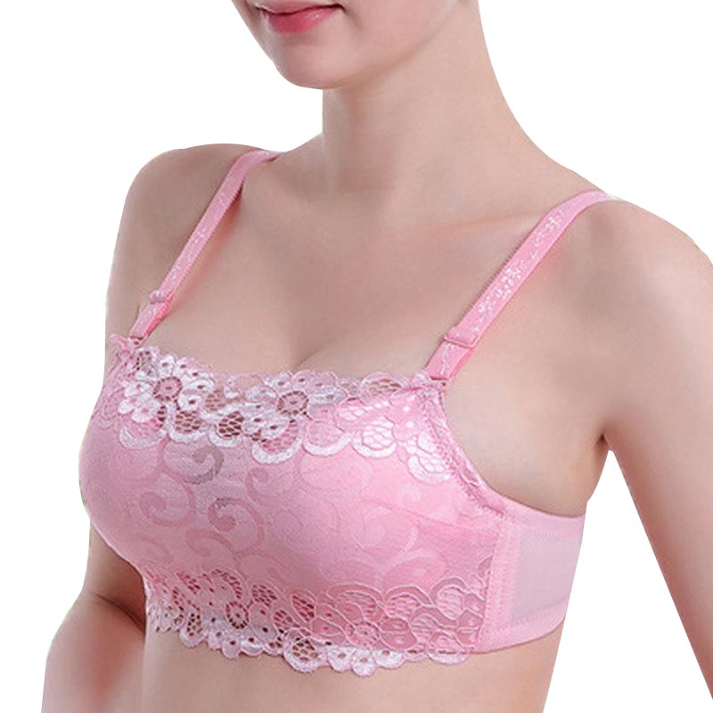 Anti Emptied Sexy Bra Gather Breast Push Up Underwire Support Chest Women Wrapped Chest Lace Bras New 1