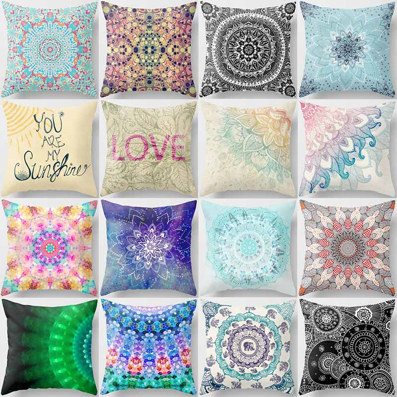 Hot sale many kinds of flowers creative picture Pillow case boys girls weeping pillow cover size 45*45cm