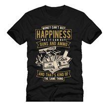MONEY CANT BUY ME HAPPINESS guns & ammo mashup dtg mens t shirt tees NEW 2018100% Cotton Short Sleeve O-Neck Tops Tee Shirts цена и фото