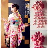 Japanese Beautiful Sakura Kimono Bathing Dress Headwear Hairband free shipping F