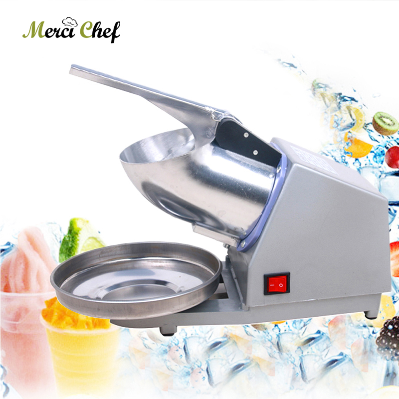 ITOP Ice Crusher Smoothie Maker Ice Shaver Machine Electric Semi-automatic Snow Cone Maker Stainless Steel Shaved Ice Machine