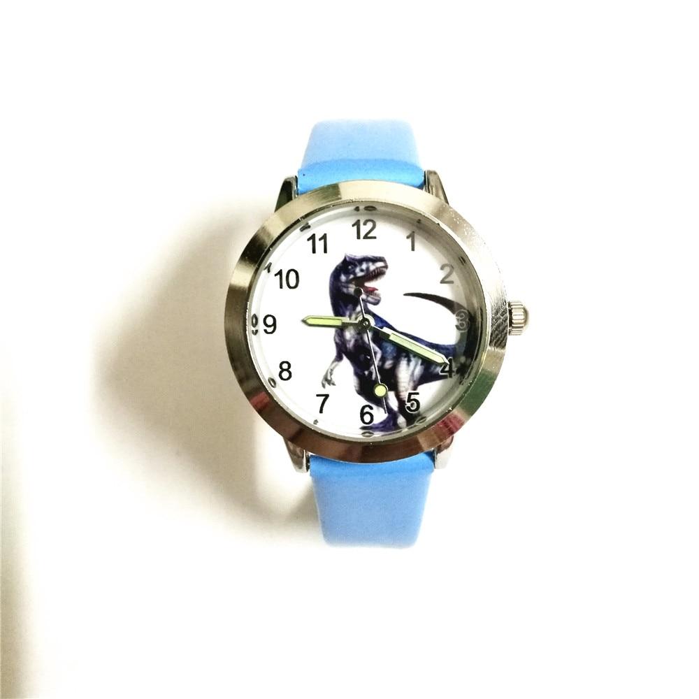 2018 Famous Children Boys Cute Cool Cartoon Dinosaur Quartz Gift Watches Kids Sports Luminous Hands Leather Clock Montre Enfant Watches