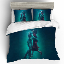 The Shape Of Water King Size Bedding Sets 3D Printing Bedding Set Duvet Cover Bed Sheets Pillowcases  Bed Linen Home Textile printio форма воды the shape of water
