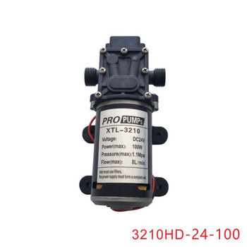 8L/Min 100W car washing,medical,chemical equipment,lawn and garden irrigation use high pressure diaphragm pump 12V 24V image