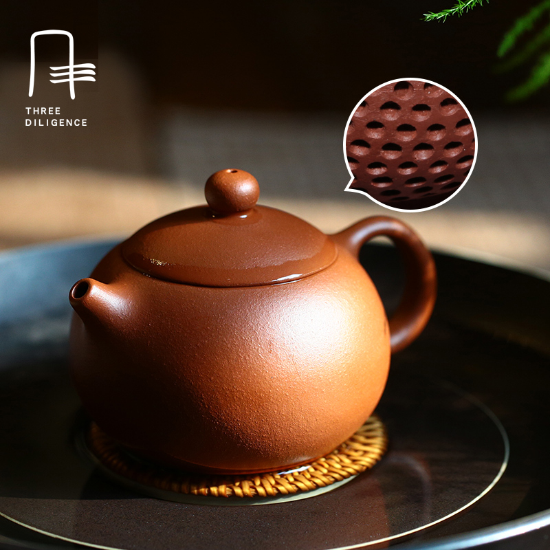 155ML Handmade Yixing Purple Clay Teapots Classical Zisha Kettle Gift Tea infuser Chinese Teaset with filter Tea Pot Brown Color