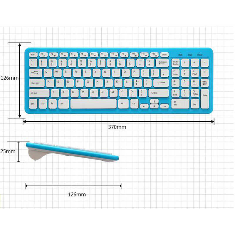 Ultra Compact Sans Fil clavier et souris Combo Set 2.4G Sans Fil Clavier Moues Combo pour Apple Mac Windows XP/7/ 10 IOS