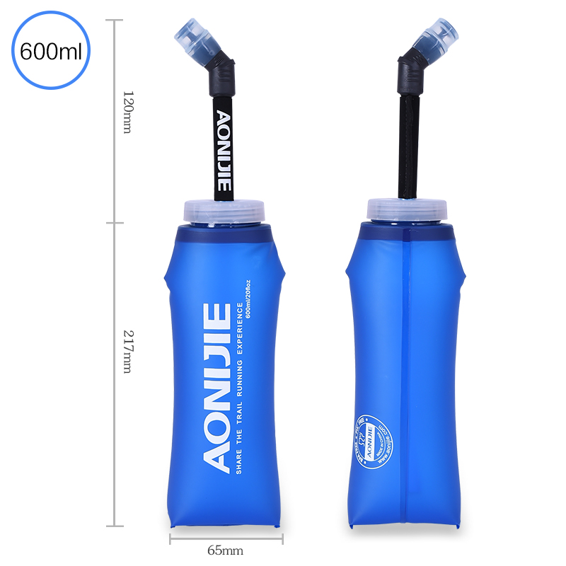 2 Pcs 350ml 600ml Folding Collapsible Soft Flask Water Bottle BPA Free For Runninng Jogging Hydration Bladder Pack Vest in Water Bags from Sports Entertainment