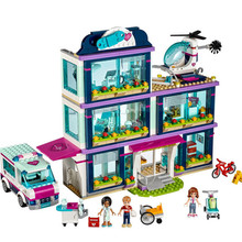 цена на New Compatible Friends Girl Series molde Building Blocks toys Heartlake Hospital kids Bricks toy girl gifts for friends