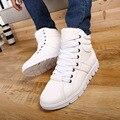 2016 homens da moda botas de pele dentro de alta top sapatos casuais para homem PU de couro hombre tenis tamanho grande bottines chaussures XZ001
