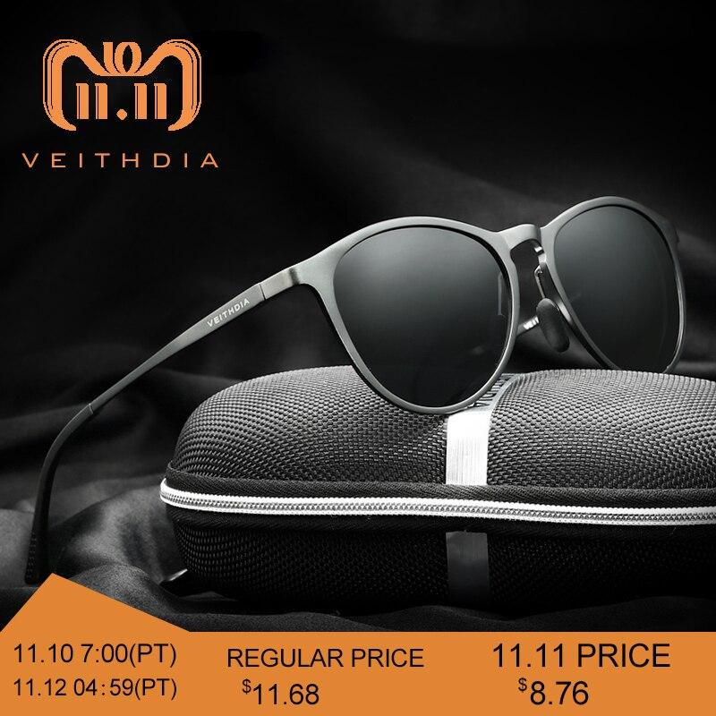 4b9c9bd2ec7 VEITHDIA Vintage Retro Brand Designer Original Box Sunglasses Men Women Male  Sun Glasses gafas oculos