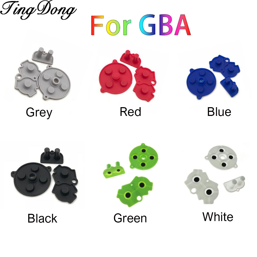 1Set Colorful Rubber Conductive Buttons A-B D-pad for Nintend GameBoy Advance GBA Silicone Conductive Start Select Keypad(China)