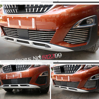 Car Styling For Peugeot 5008 GT 2017 26pcs/ Set Stainless Steel Front Grille Racing Grills Trim Car Styling Accessories