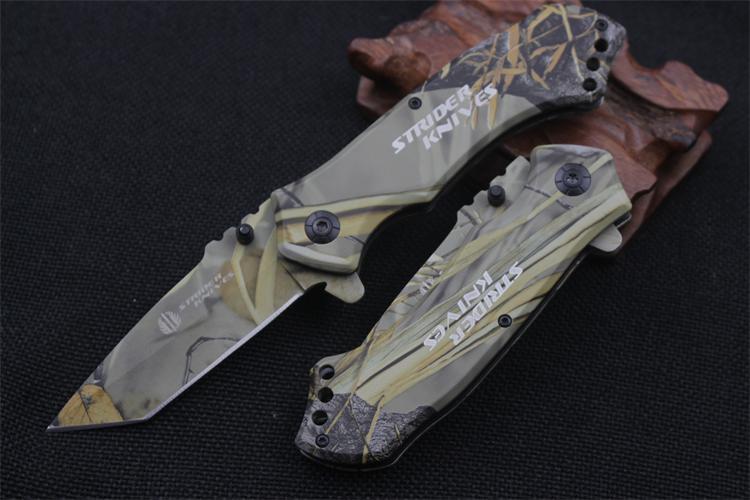 Strider knives outdoor camping jungle camouflage survival battle karambit cs go gaming sharp folding tactical hunting knives