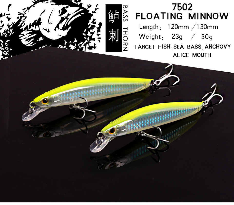 Kingdom Fishing Lures Saltwater 120mm23g,130mm30g Floating Artificial Bait Minnow Wobblers Hard Lure Model 7502 (1)