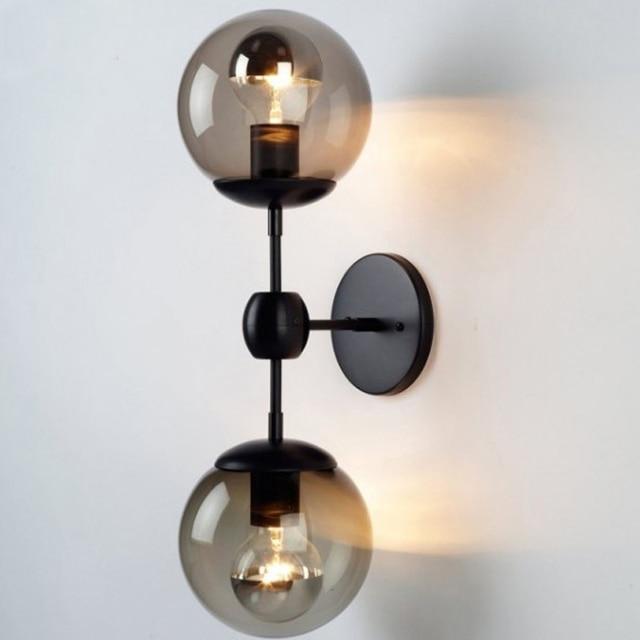Loft Vintage industrielle Lustre en verre transparent boule ...