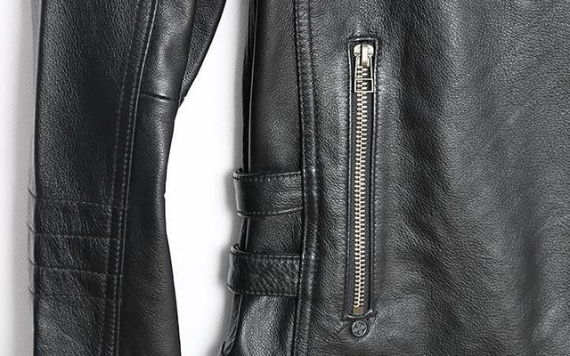 Mens Genuine Leather Jacket Motorcycle Skull Retro Vintage Coat Slim Fit Punk Rock Pilot Jacket Sheepskin Leather Winter Outwear