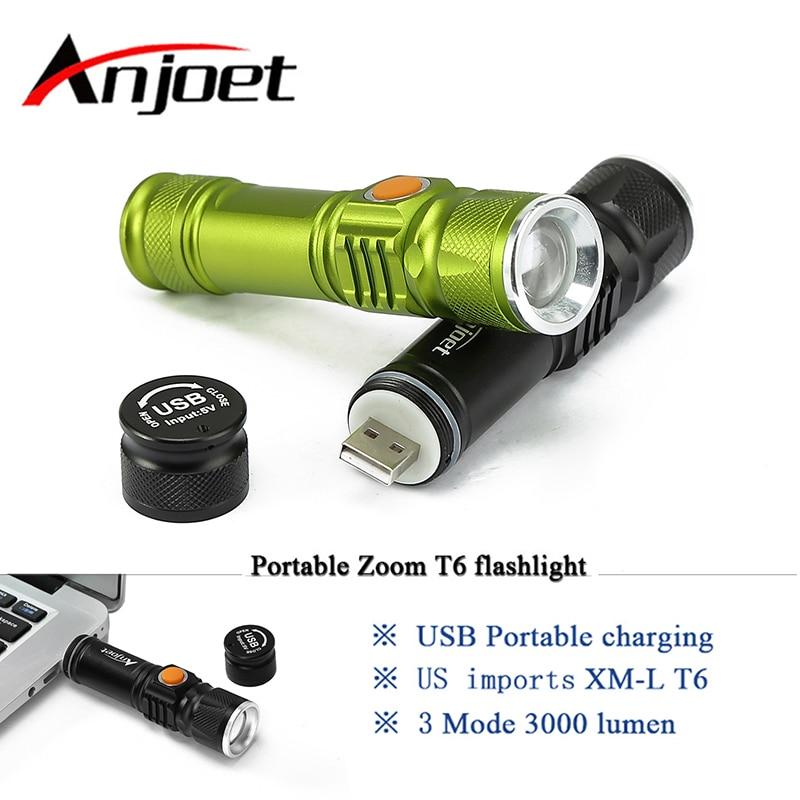 Портативный свет Mini USB фонарик xm-l T6 светодиодный Масштабируемые Факел Аккумуляторная 18650 встроенный аккумулятор водонепроницаемый вспышки…