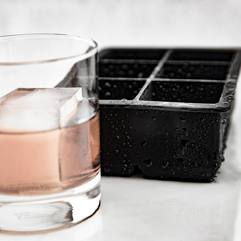 2 PCS Frozen 6 Silicone Ice Ball 6 Persegi Ice Cube Trays Silicone - Dapur, ruang makan, dan bar - Foto 4