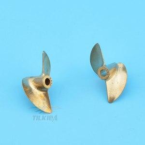 Image 5 - Rc Boat Propeller 2 Blades Prop Iridium Copper Propeller Left / Right Diameter 36/37/38mm Propeller For 4mm  Boat Shaft