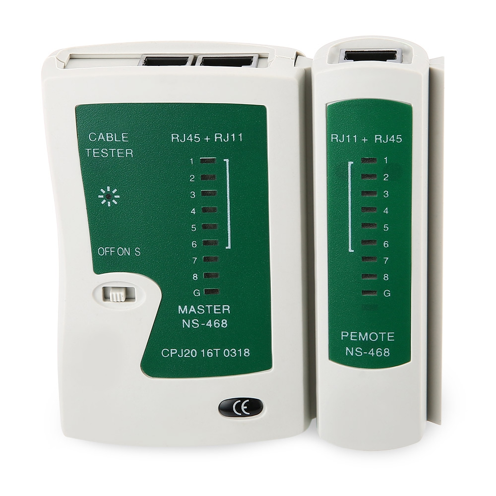 Network Cable Tester LAN RJ45 RJ11 N21CL Cat5 Ethernet Line Tool Internet Broadband Connection Speed Capability Test