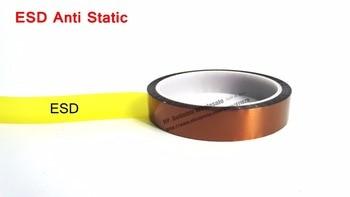 Cinta adhesiva de 0,06mm de espesor de 10mm * 20M de alta temperatura, resistente a la temperatura, cara adhesiva ESD, película de poliimida para proteger, protección de punto dorado