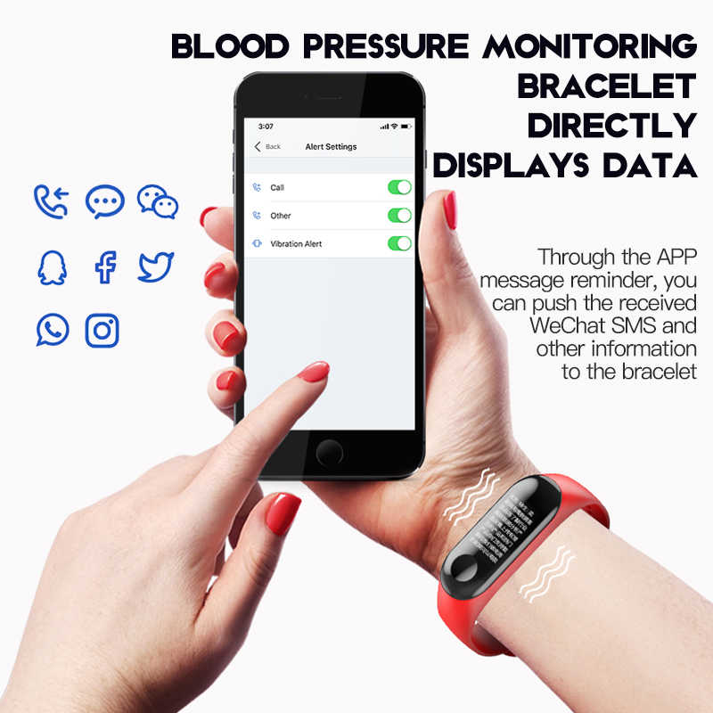 חכם שעון גברים נשים קצב לב צג לחץ דם כושר Tracker Smartwatch ספורט חכם שעון שעון עבור IOS אנדרואיד