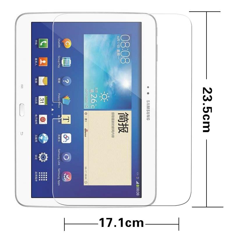 Premium karastatud klaasist kilp Samsung Galaxy Tab 3 jaoks 10.1 P5200 tahvelarvuti Kaitsekindel LCD ekraani kaitsekile Film + jaemüügipakett