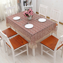 Table Cloth Plaid Flowers Nappe Transparent Table Cover Lace Tablecloth  Toalha De Mesa Quadrada Wedding Manteles