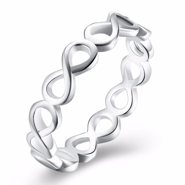 925 Stamped Silver Plated Infinity Ring Eternity Ring Charms Best