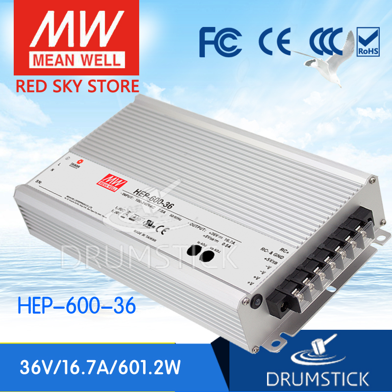 MEAN WELL HEP-600-36 36V 16.7A meanwell HEP-600 36V 601.2W Single Output Switching Power Supply [Real6] 1mean well original hep 320 54a 54v 5 95a meanwell hep 320 54v 321 3w single output switching power supply