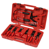 Veconor Mechanics 9 Pcs Hose Clamp Pliers Removal Garage Tool Set Swivel Jaw Flat Band