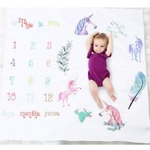 Детские Одеяло s, одежда для новорожденных, с изображением номера Единорог веху Одеяло для фотографии наряд для фотосессий Shoot